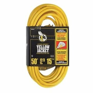 Yellow Jacket Indoor And Outdoor Triple Outlet Cord 12 3 Sjtw 50 Ft L