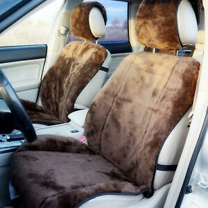 2 Pcs Seat Covers Sheep Wool 70 Wool 30 Lavsan Russian Artificial Fur