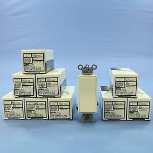 10 New Leviton Almond Commercial 1 pole Decora Rocker Light Switches 20a 5621 2a