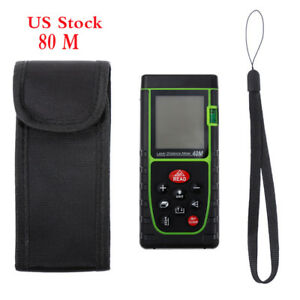 Us 80m Portable Digital Laser Point Distance Meter Tape Range Finder Measure