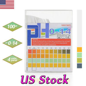 100pcs Ph Paper Test Strips 0 14 Tester Urine Saliva Water Indicator Litmus Usa