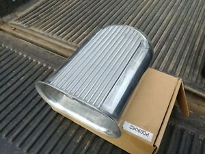 4 Barrel Polished Alum Hilborn Style Carb Finned Air Cleaner Hood Scoop With K