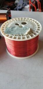 Vintage 10 5000 22 Awg Gauge Enameled Copper Magnet Coil Winding Wire Red