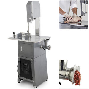 550w Stand Up Meat Band Saw Meat Grinder Dual Electric Food Produce Processor