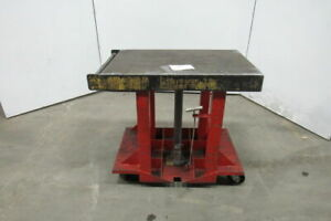 Industrial Manual Hydraulic Lift Cart 36 X 24 Table 35 To 59 Lift