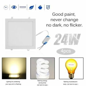 Professional 24w Square Dimmable Led Recessed Ceiling Panel Down Light Bulbs