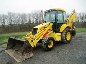 New Holland Lb90b Tractor Loader Backhoe 4x4 Cab Ext Hoe Only 6489 Hours