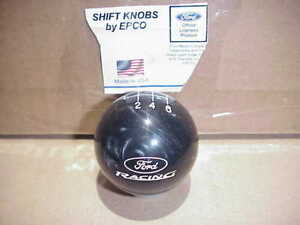 Ford Racing Custom Engraved 6 Speed Licensed Shift Knob black Pearl