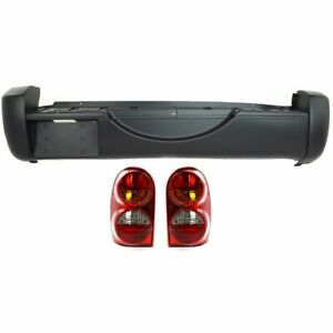 Bumper Cover Kit For 2002 2004 Jeep Liberty Rear Sport Utility 3pc