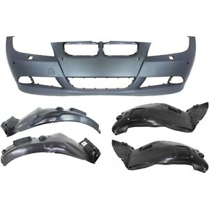 Bumper Cover For 2007 2008 Bmw 328i Set Of 5 Front With Sensor Holes