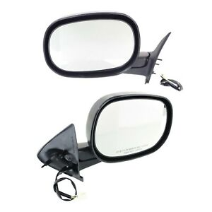 Power Mirror Set Of 2 For 1997 2000 Dodge Dakota Textured Black Manual Folding