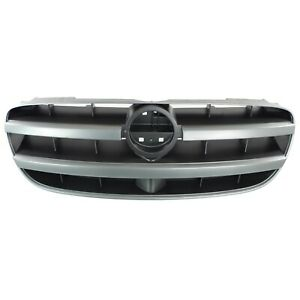 Grille For 2002 2003 Nissan Maxima Silver Shell W Black Insert Plastic