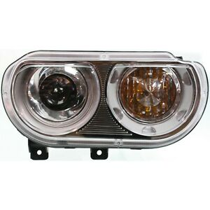 Headlight For 2008 2014 Dodge Challenger Right Clear Lens Hid