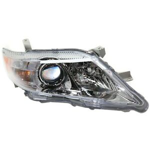 Headlight For 2010 2011 Toyota Camry Xle Right Chrome Housing With Bulb Capa