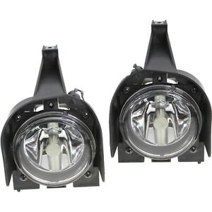 New Set Of 2 Fog Lights Lamps Driver Passenger Side Fo2593176 Fo2592176 Pair