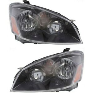 Headlight Set For 2006 Nissan Altima Left And Right Hid With Bulb 2pc