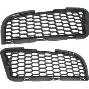 Bumper Grille For 2012 2016 Bmw M5 Set Of 2 Left Right Textured Black Plastic