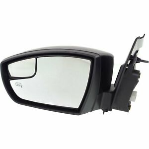 Power Mirror For 2013 2016 Ford Escape Left Side Manual Fold Heated Paintable