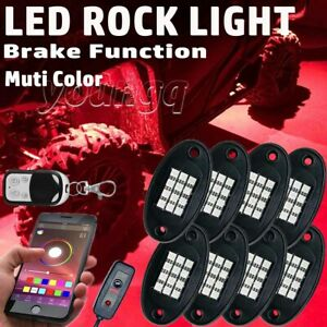 8pod Led Rock Light Kit Neon Under Glow Bluetooth For Dodge Ram 1500 2500 Dakota