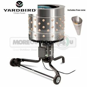 21833 New Yardbird Portable Electric 1 5 Hp Poultry Farm Plucker With Cone
