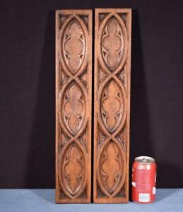 Gothic Carved Architectural Panels Trim In Solid Oak Salvage