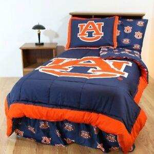 College Covers Aubbbquw Auburn Bed In A Bag Queen With White Sheets