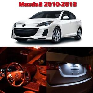 6 Red Interior Led Map Dome Trunk License Light Package For Mazda 3 2010 2013