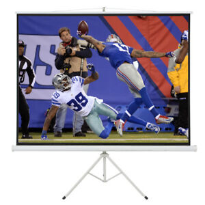 100 d Tripod Portable Projector Projection 16 9 Screen 87x49 Fold able Stand