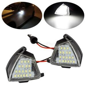 White Led Bulb Under Side Mirror Puddle Light Lamp Set For Vw Golf 5 Eos Gti