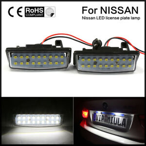 Xenon White 18 Led License Plate Light Lamps 12v For Nissan Altima Maxima Murano