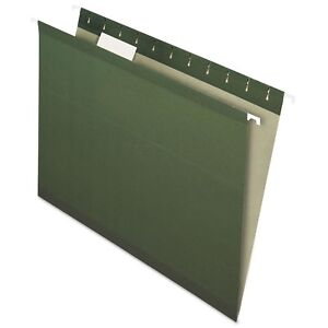Pendaflex Earthwise Recycled Hanging File Folders 1 5 Tab Letter Green 25 box