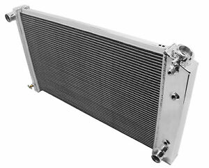 Fit 71 86 Chevy Camaro Caprice 3 Rows All Aluminum Radiator W 26 Wide Core