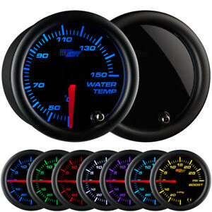 New 52mm Glowshift Smoked Lens 7 Color Led Water Temp c Gauge Meter Kit