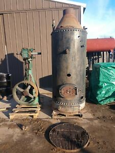 Antique Steam Engine And Boiler