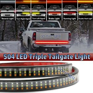 60 Triple Row 504 Led Tailgate Light Strip Bar For Toyota Tundra Tacoma Camry