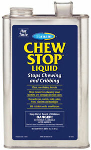 Chew Stop No Chew Stop Cribbing Liquid 64oz Horse Dog Protect Fences Gates Trees