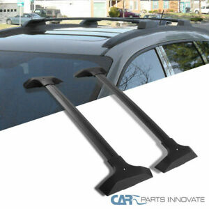 Chevy 09 17 Traverse Black Roof Cross Bars Rack Luggage Cargo Luggage Carrier
