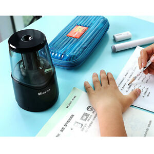 Electric Pencil Sharpener Automatic Electronic Pencil Sharping Tool Black