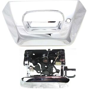 Tailgate Handle And Bezel Kit Chrome W Lock Provision For 02 06 Chevy Avalanche