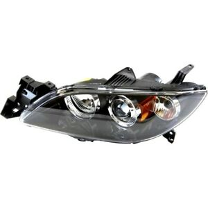 Headlight For 2004 2005 2006 Mazda 3 S I 2005 Mazda 3 Sp23 Sedan Left Hid