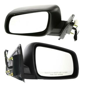 Set Of 2 Mirror Power For 2008 2010 Mitsubishi Lancer Left Right Textured Black