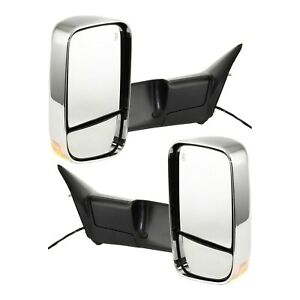Tow Mirror Set For 2011 2012 Ram 1500 Driver And Passenger Side Power Heated