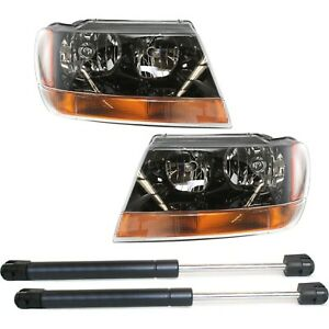 Headlight Kit For 1999 2002 Jeep Grand Cherokee 4pc