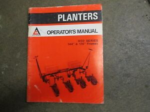 Allis Chalmers 600 Planter 4row 144 176 Frame Owners Maintence Manual