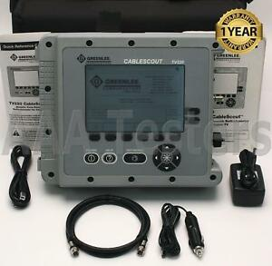 Tektronix Greenlee Cablescout Tv220 Coax Catv Tdr Cable Tester Tv 22