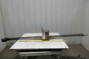 78 1 2 l X 2 1 2 W Metal Gear Rack W brake Assembly From A Frost Broach Machine