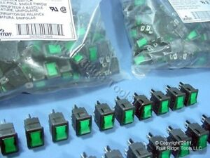 500 Green Pilot Light Illuminated Mini Rocker Panel Switches On off Micro Mr001