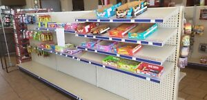 Gondola Shelving Double Sided Store Shelves Fixtures Grocery And Retail Display