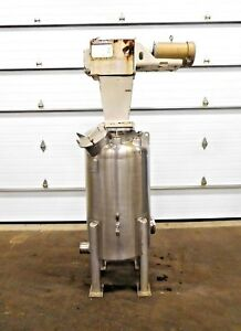 Mo 2557 Letsch Precision 80 Gallon Stainless Tank W 5 Hp Agitator 316l Ss