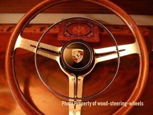 Porsche 356 B Carrera 2 Les Leston Wood Steering Wheel 40 Cm Vdm Horn Ring Nos